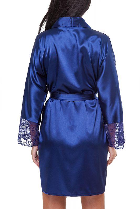 damen morgenmantel kimono aus satin. Black Bedroom Furniture Sets. Home Design Ideas