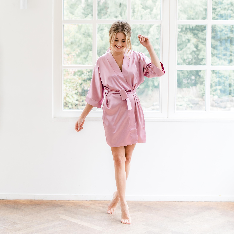 Damen Morgenmantel Kimono Heide - 22